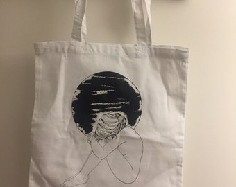 Anhedonia Tote Bag Girl Moon