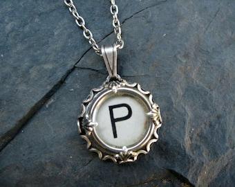 Typewriter Key Jewelry - Typewriter Charm - Letter P