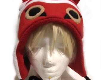 Princess Mononoke Inspired Fleece Hat