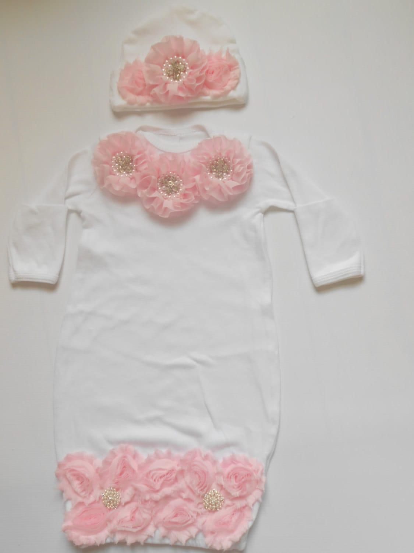 White Layette,Newborn gown,white Long Sleeve ,Newborn hospital ...