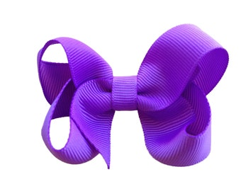 Lilac hair bow - hair bows, hair bow, hair bows for girls, pigtail bows, bows, baby bows, baby hair bows, toddler hair bows, girls hair bows
