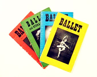 Instant Collection of Ballet Magazines / 1940s and 1950s Ballet and Opera Volumes / Collectible Dance Ephemera