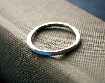 Rustic Hammered Sterling Silver Stacking Ring