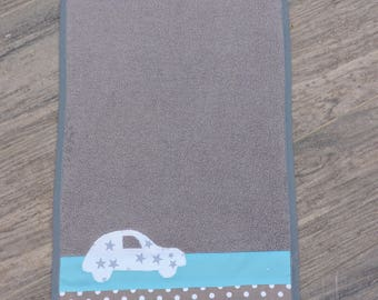 Swaddle baby grey blue car
