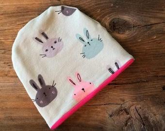 Hat, beanie, hat, baby, new born gift, newborn, 0-3 months, 3 months, rabbit