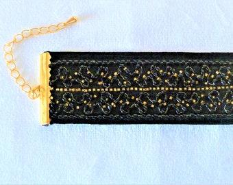 TANAIS bracelet  Black/gold