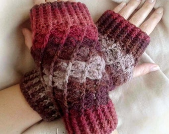 ALIZ fingerless gloves Crochet pattern - Full of large pictures! Permission to sell finished items. Pattern No. 128