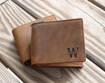 Cowhide leather, Mens Leather wallet, Mens Personalized, Personalized Wallet, Mens BiFold Wallet, Gifts for Him, Custom Wallet, Mens gift