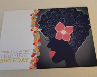 Natural Hair Greeting Card.