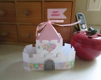 Princess Castle Favor Box  Set of 10