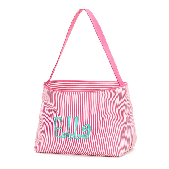 Hot Pink Striped Bucket is Great for Easter