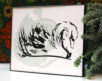Little Girl Room Print, Nursery Art, Wall Decor, Swan Illustration, Swan Print