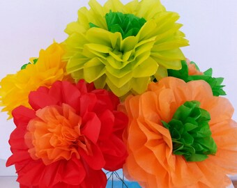 Fiesta tissue paper flowers Weddings//Decorations//Reception//Baby Shower//Birthday's//Mexico Fiesta