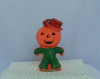 Vintage Halloween Jack-o-lantern Man Candle by Gurley