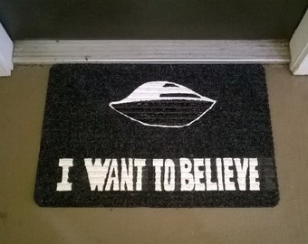 I want to Believe X-Files Welcome Mat