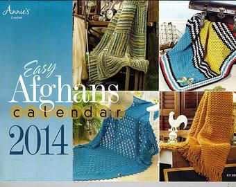 Easy Afghans Calendar 2014 / Crochet Pattern Book Annies Attic