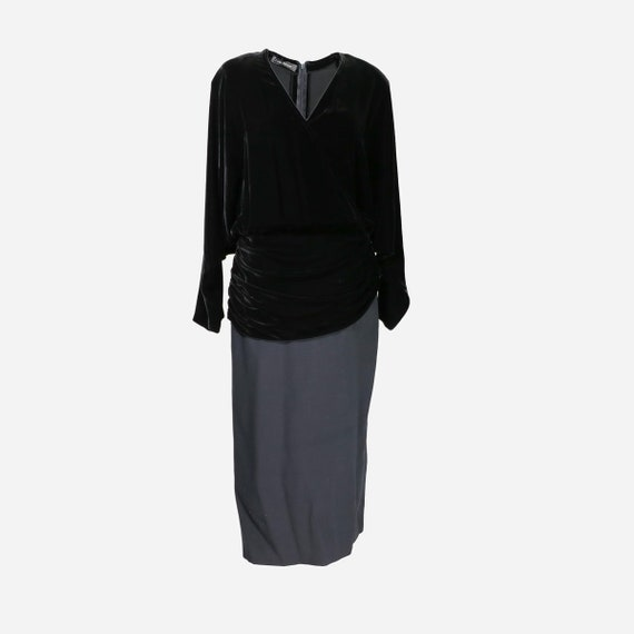 and LOUIS FERAUD dress Velvet wool xggBrXEqOw