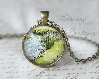 Classic Pooh, Winnie the Pooh, Eeyore Illustration, Eeyore's Tail, A. A. Milne Necklace or Keyring, Keychain.
