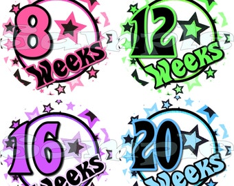 14 Pregnancy Stickers Belly Stickers Weekly Stickers Pregnancy Photo Prop Belly Bump Stickers Maternity Stickers Includes 2 BONUS STICKERS