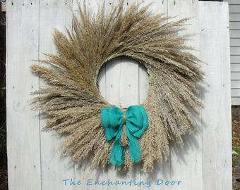 grass wreath, beach wreath, rustic wreath, primitive wreath, fall wreath, autumn wreath, grass wreath, country wreath