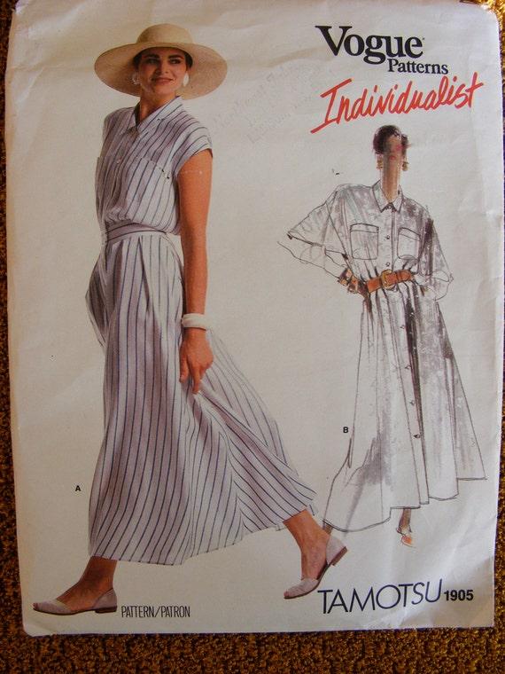 Vogue American Designer Sewing Pattern 1905 Tamotsu Dress Long ...