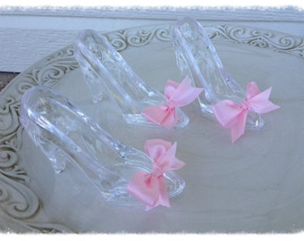 Birthday Decoration Cinderella Princess Glass Slippers Set of Three for Birthday Party
