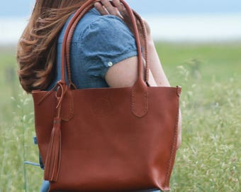 Reserve for Jill  Helena Handbag in Horween Natural Essex Leather by Beargrass Leather, Hand Made in Montana (FREE SHIPPING in the US)