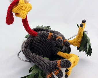 Amigurumi Crochet Pattern - Theo the Turkey - English Version