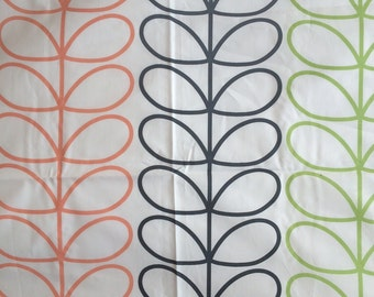 Orla Kiely printed fabric - linear stem - multi color *** SHIPPING INCLUDED ***