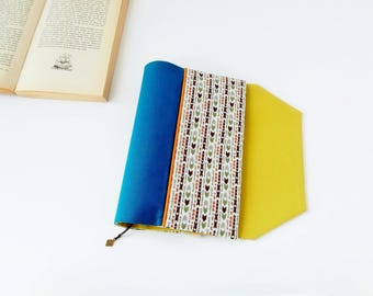 Protects-pocketbook adjustable fabric with mark (arrow patterned fabric / turquoise_vert_blanc)