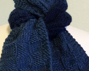 Knit Scarf Pattern: Half-Skein Checkerboard Scarfie, PDF download
