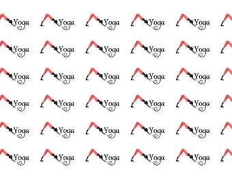 Yoga Wordy Icons WI0034