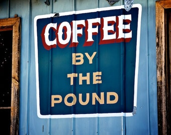 Coffee Art Print, Kitchen Wall Decor, Retro Coffee Sign, Retro Kitchen Decor, Retro Painted Ad, Old Coffee Sign, Vintage Wall Decor