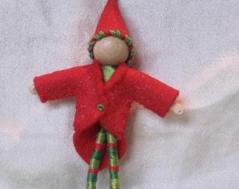 Christmas Elf - Miniature Elf Doll - Elf Ornament - Christmas ornament - boy doll - custom