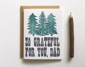 Letterpress Card - Father's Day - So Grateful for You, Dad
