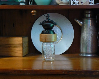 Mechanical Coffee Grinder - Coffee Mill - Fresh Ground Coffee – Canning Jar Base - Burr Grinder - Foodie -CJ-CG-68