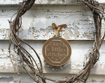 NEW! NOTFORGOTTEN FARM Tiny Little Stitches counted cross stitch patterns at thecottageneedle.com smalls wall hoop art
