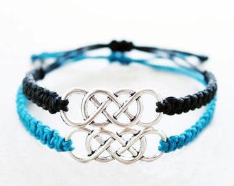 Double Infinity Bracelets - Couples Bracelets - Hemp Bracelets, Hemp Jewelry