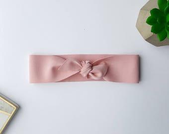 Pink baby top knot headband, Baby headband, Baby headbands, Baby hair accessories, Baby hair bands, Baby headband knot, Baby headband knot
