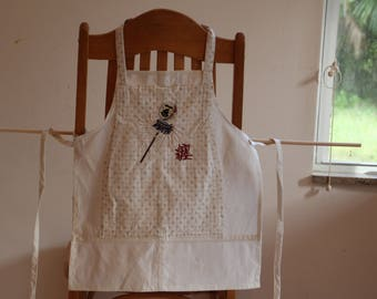 Aprons Japanese Calligraphy Set adult and child