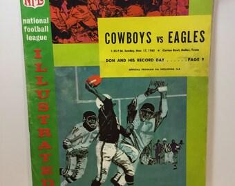 Vintage Game Day Cowboys vs Eagles NFL Illustrated Program