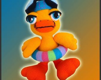 Amigurumi Pattern Crochet Duckie Duck DIY Instant Digital Download PDF