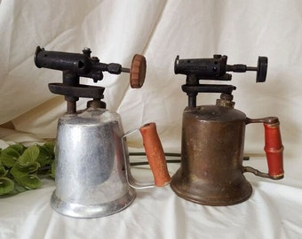Turner and Benz blowtorchs, solder torches, from the 1940's