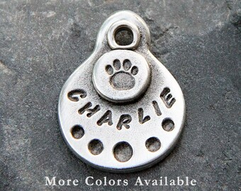 Small Pet Tag - Small Dog Tag - Pet ID Tag - Dog ID Tag - Cat Tag - Personalized Pet Tag - Custom - Hand Stamped