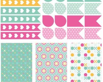 Kann Januar-Kit-Set, volle Box Checklisten Sticker, Sticker, Sticker, Flagge Tropfen Eclp Filofax glücklich Planer kikkik