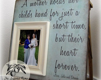 Best Mother of the Bride Gifts, Personalized Picture Frame, A Mother Holds, 16x16 The Sugared Plums Frames
