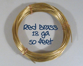 18ga 50ft DS Red Brass Wire