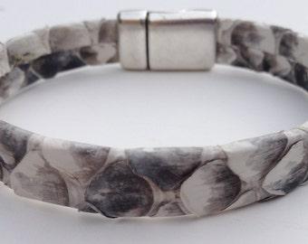 Genuine Python Leather bracelet - large Scale Pattern