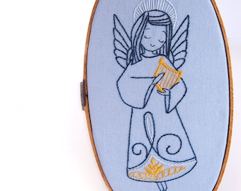 Hand Embroidery Holiday Pattern Collection Christmas Angel Embroidery Patterns from SeptemberHouse