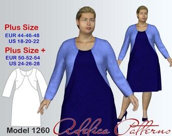 Plus size Dress Sewing Pattern PDF, Women's sizes 18-28, Dress PDF Instant Download Sewing Pattern, Dress Sewing Pattern